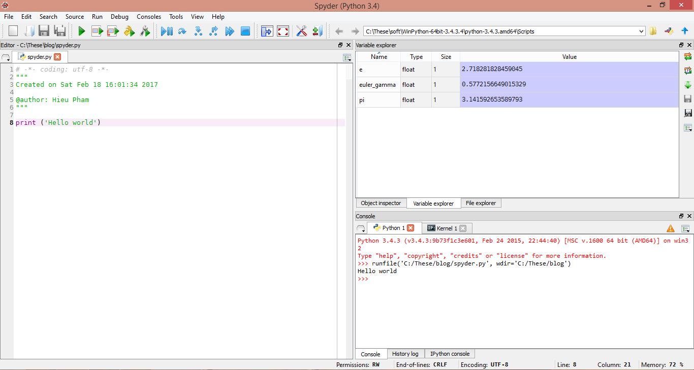 Bài: Cài đặt Python và thư viện sử dụng Anaconda trên Windows